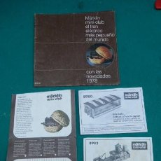 Trenes Escala: CATALOGO MARKLIN CLUB MINI Z..1978....Y ALGUNOS DOCUMENTOS..LOTE.. Lote 142871878