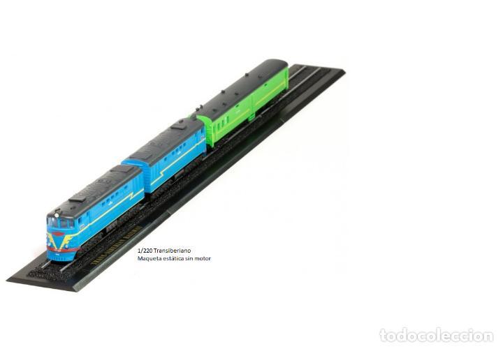 TRANSIBERIANO DE METAL CON DETALLES EN PLÁSTICO ESCALA Z (Juguetes - Trenes a Escala Z)