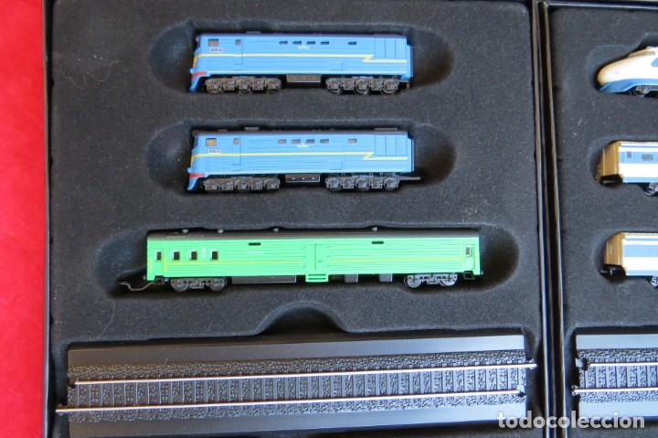 Trenes Escala: LOTE 4 TRENES MINITRAINS 1/220 - EDITIONS ATLAS - Foto 5 - 159759326