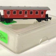 Trenes Escala: MARKLIN VAGÓN DE PASAJEROS 'COCHE BALCONCILLOS ROJO', REFERENCIA 8701 ESCALA Z. Lote 168638280