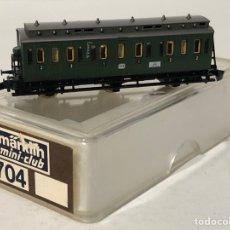 Trenes Escala: MARKLIN VAGÓN DE PASAJEROS 'COCHE COMPARTIMENTO 1ª Y 2ª 3 EJES', REFERENCIA 8704 ESCALA Z. Lote 190432486