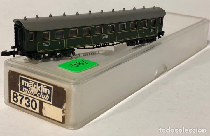 Trenes Escala: MARKLIN VAGÓN DE PASAJEROS 'COCHE 3ª BÁRVAROS TREN EXPRESO', REFERENCIA 8730 ESCALA Z - Foto 2 - 186265207