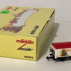 Trenes Escala: MARKLIN VAGÓN DE MERCANCÍAS INSIDER 'HAPPY BIRTHDAY', REFERENCIA 86002 ESCALA Z. Lote 168703992