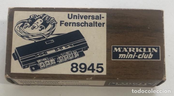 MARKLIN RELÉ UNIVERSAL, REFERENCIA 8945 ESCALA Z (Juguetes - Trenes a Escala Z)