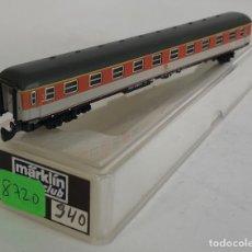 Trenes Escala: MARKLIN VAGÓN DE PASAJEROS 'COCHE 1ª NARANJA/BEIGE DB TREN EXPRESO', REFERENCIA 8720 ESCALA Z. Lote 168959916