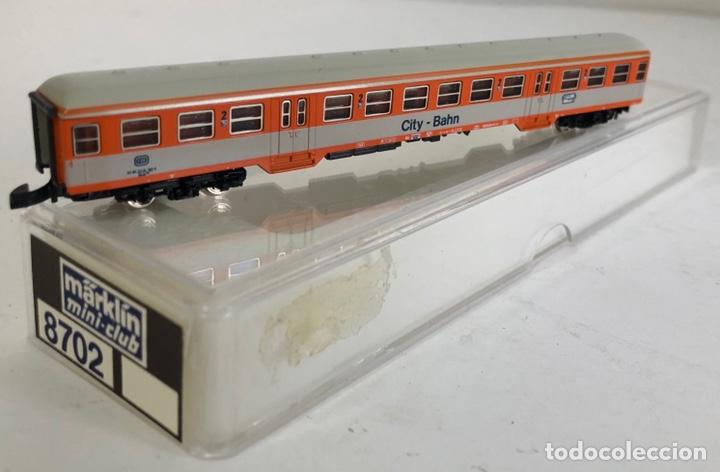 Trenes Escala: MARKLIN VAGÓN DE PASAJEROS '2ª CITY-BAHN', REFERENCIA 8702 ESCALA Z - Foto 2 - 168961892