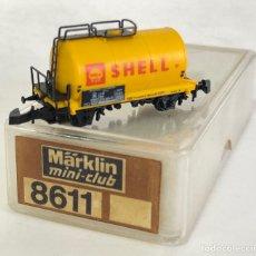 Trenes Escala: MARKLIN VAGÓN DE MERCANCÍAS 'CISTERNA SHELL 2 EJES', REFERENCIA 8611 ESCALA Z. Lote 169053380