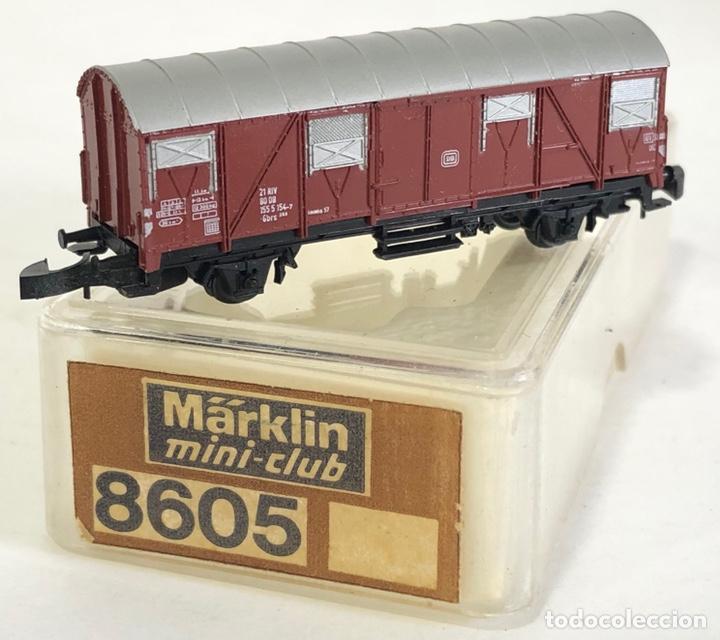 MARKLIN VAGÓN DE MERCANCÍAS 'VAGÓN CERRADO DB', REFERENCIA 8605 ESCALA Z (Juguetes - Trenes a Escala Z)