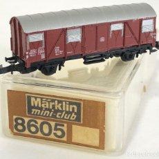 Trenes Escala: MARKLIN VAGÓN DE MERCANCÍAS 'VAGÓN CERRADO DB', REFERENCIA 8605 ESCALA Z. Lote 169053736