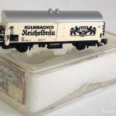Trenes Escala: MARKLIN VAGÓN DE MERCANCÍAS 'FRIGORÍFICO CERVEZA KULMBACHER REICHELÄU', REFERENCIA 8604 ESCALA Z. Lote 169054288