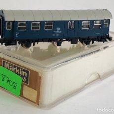 Trenes Escala: MARKLIN VAGÓN DE PASAJEROS 'COCHE 2ª Y EQUIPAJES DB 3 EJES', REFERENCIA 8708 ESCALA Z. Lote 169054460