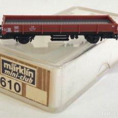 Trenes Escala: MARKLIN VAGÓN DE MERCANCÍAS 'VAGÓN BORDES BAJOS', REFERENCIA 8610 ESCALA Z. Lote 169072372