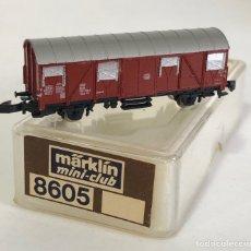 Trenes Escala: MARKLIN VAGÓN DE MERCANCÍAS 'VAGÓN CERRADO DB', REFERENCIA 8605 ESCALA Z. Lote 169072672