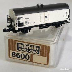 Trenes Escala: MARKLIN VAGÓN DE MERCANCÍAS 'VAGÓN FRIGORÍFICO DB', REFERENCIA 8600 ESCALA Z. Lote 169074096
