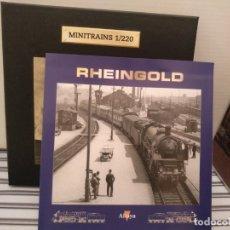Trenes Escala: MINITRAINS RHEINGOLD, ALTAYA, NUEVO, ESCALA 1/220. Lote 174031175