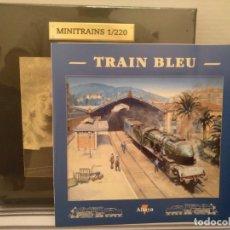 Trenes Escala: MINITRAINS TRAIN BLEU, ALTAYA, NUEVO, ESCALA 1/220. Lote 174031970