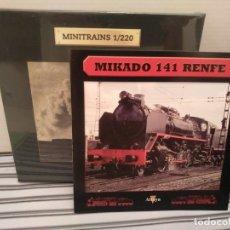 Trenes Escala: MINITRAINS MIKADO 141 RENFE, ALTAYA, NUEVO, ESCALA 1/220. Lote 174032138