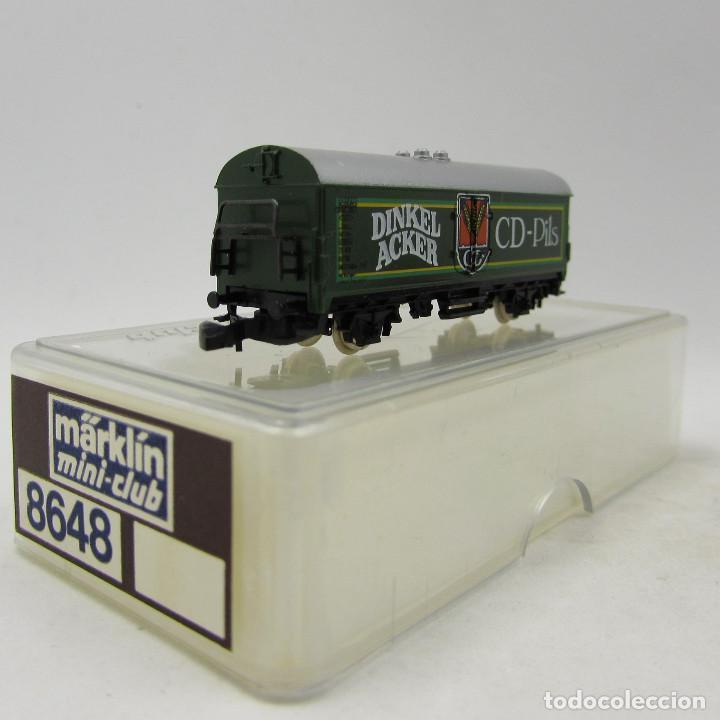 Trenes Escala: Märklin / Marklin 8648 Vagón mercancias Cerveza Dinkel - Foto 2 - 185015665