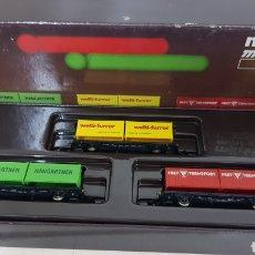 Trenes Escala: SET DE 3 VAGONES DE MERCANCÍAS DOBLE CONTAINER ESCALA Z MARKLIN MINI CLUB 82 368. Lote 187083088