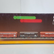 Trenes Escala: SET DE TRES VAGONES MERCANCÍAS TOLVA ESCALA Z MARKLIN MINI CLUB 86301. Lote 187083432