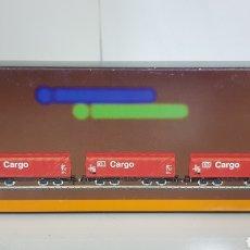 Trenes Escala: SET DE 3 VAGONES MERCANCÍAS DE LA DB ALEMANA CARGO MARKLIN MINI CLUB ESCALA Z 86352. Lote 187083771