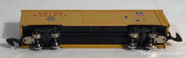 Trenes Escala: MARKLIN MINI CLUB VAGÓN MERCANCÍAS CERRADO USA BOGIES UNION PACIFIC 8641 ESCALA Z. NUEVO - Foto 6 - 193862806
