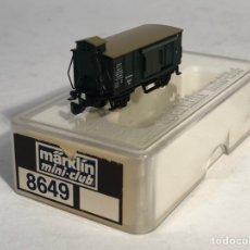Trenes Escala: MARKLIN MINI CLUB VAGÓN MERCANCÍAS VAGÓN CERRADO GARITA PUERTAS CORREDERAS 8649 ESCLA Z. NUEVO. Lote 194154957