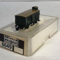 Trenes Escala: MARKLIN MINI CLUB VAGÓN MERCANCÍAS VAGÓN CERRADO GARITA PUERTAS CORREDERAS 8649 ESCLA Z. NUEVO. Lote 194154978