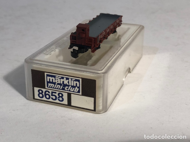 Trenes Escala: MARKLIN MINI CLUB VAGÓN MERCANCÍAS VAGÓN TELEROS CON GARITA 8658 ESCALA Z. NUEVO - Foto 3 - 194155338