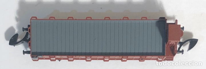 Trenes Escala: MARKLIN MINI CLUB VAGÓN MERCANCÍAS VAGÓN TELEROS CON GARITA 8658 ESCALA Z. NUEVO - Foto 5 - 194155338