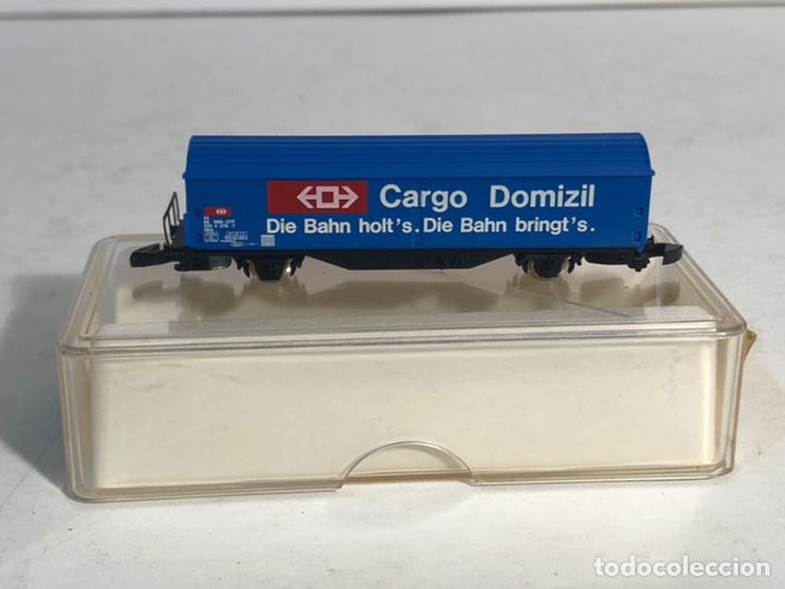 Trenes Escala: MARKLIN MINI CLUB VAGÓN MERCANCÍAS VAGÓN CARGO DOMICILE SBB 8656 ESCALA Z. NUEVO - Foto 2 - 194155741