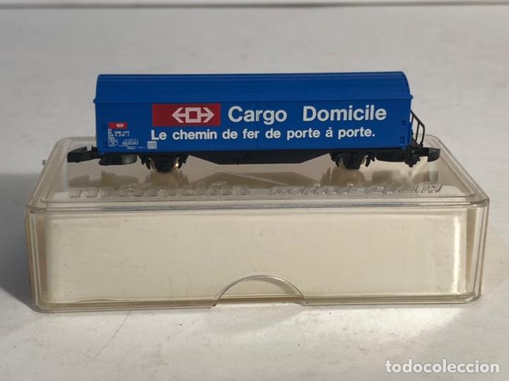 Trenes Escala: MARKLIN MINI CLUB VAGÓN MERCANCÍAS VAGÓN CARGO DOMICILE SBB 8656 ESCALA Z. NUEVO - Foto 4 - 194155741