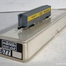 Trenes Escala: MARKLIN MINI CLUB VAGÓN MERCANCÍAS CERRADO USA BOGIES RIO GRANDE 8677 ESCLA Z. NUEVO. Lote 194372578