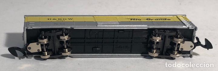 Trenes Escala: MARKLIN MINI CLUB VAGÓN MERCANCÍAS CERRADO USA BOGIES RIO GRANDE 8677 ESCALA Z. NUEVO - Foto 6 - 194372616