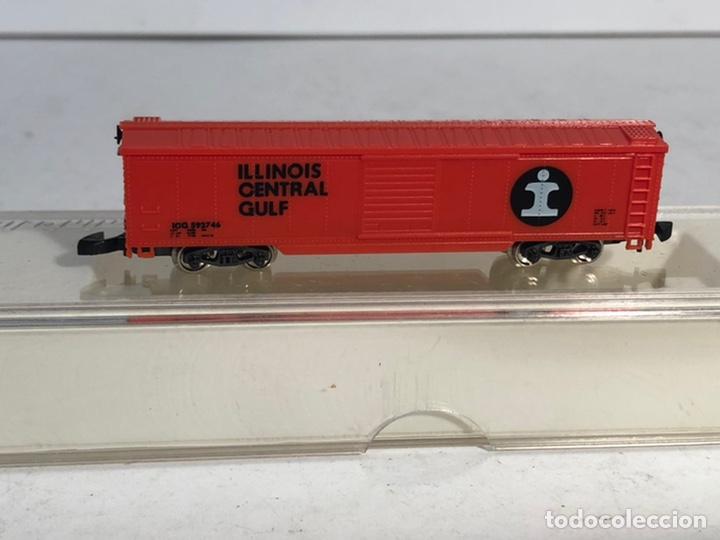 Trenes Escala: MARKLIN MINI CLUB VAGÓN MERCANCÍAS CERRADO USA BOGIES ILLINOIS CENTRAL GULF 8681 ESCALA Z. NUEVO - Foto 2 - 194372943