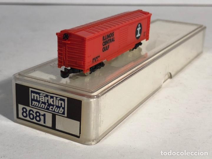 Trenes Escala: MARKLIN MINI CLUB VAGÓN MERCANCÍAS CERRADO USA BOGIES ILLINOIS CENTRAL GULF 8681 ESCALA Z. NUEVO - Foto 3 - 194372943