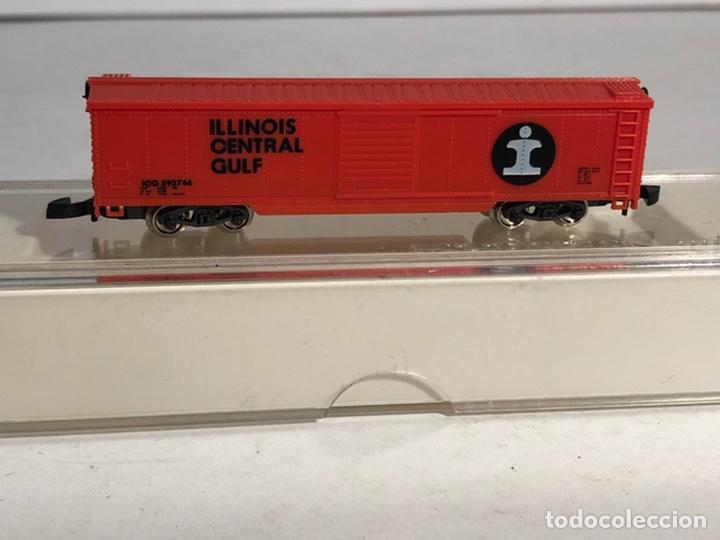 Trenes Escala: MARKLIN MINI CLUB VAGÓN MERCANCÍAS CERRADO USA BOGIES ILLINOIS CENTRAL GULF 8681 ESCALA Z. NUEVO - Foto 4 - 194372943