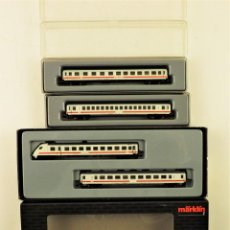 Trenes Escala: MARKLIN Z MINI CLUB SET 87752 + 87251 + 87732 (CONJUNTO DE 4 COCHES DE PASAJEROS). Lote 195234016