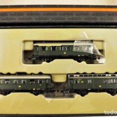 Trenes Escala: MARKLIN Z MINI CLUB 87670 CONJUNTO DE 3 COCHES. Lote 195234503