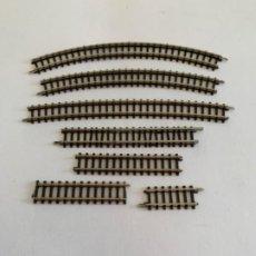 Trenes Escala: MARKLIN MINI-CLUB SURTIDO 7 VIAS. Lote 198999548