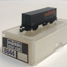 Treni in Scala: MARKLIN VAGÓN CONTAINER MARKLIN NEGRO REFERENCIA 8644 ESCALA Z. Lote 201269410