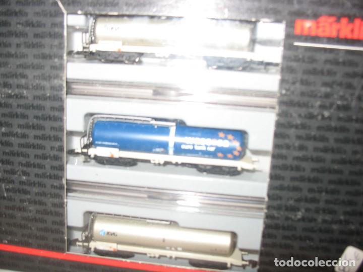 Trenes Escala: marklin mini club set de 3 cisternas esc. z - Foto 5 - 210479676