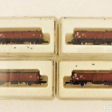 Trenes Escala: MARKLIN Z 8622 CONJUNTO DE CUATRO VAGONES CON CARGA DE CARBÓN. Lote 211386177