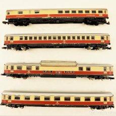 Trenes Escala: MARKLIN Z CONJUNTO DE CUATRO UNIDADES DE COCHES TEE. Lote 211386875
