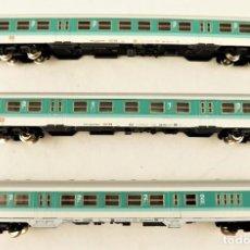 Trenes Escala: MARKLIN Z CONJUNTO DE 3 COCHES DE PASAJEROS DE LA DB. Lote 211395361
