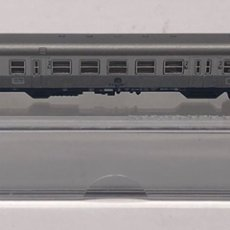 Trenes Escala: MARKLIN MINI CLUB VAGÓN PASAJEROS COCHES 2ª EQUIPAJE Y LUCES COLA CABINA PLATA DB 8718 Z. NUEVO. Lote 211894953
