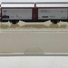 Trenes Escala: MARKLIN MINI CLUB VAGÓN MERCANCÍAS CERRADO PUERTAS PLATEADAS 8623 ESCLA Z. NUEVO. Lote 212328513