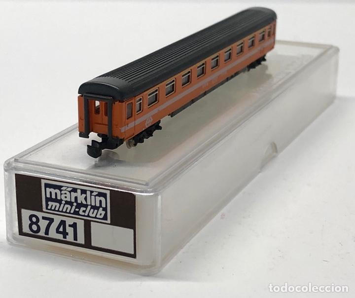 Trenes Escala: MARKLIN MINI CLUB VAGÓN PASAJEROS COCHE 1ª EUROFIMA SBB 8741 ESCLA Z. NUEVO - Foto 2 - 212345240