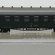 Trenes Escala: MARKLIN MINI CLUB VAGÓN PASAJEROS COCHE III DE LA ANTIGUA SBB 8748 ESCLA Z. NUEVO. Lote 212348576