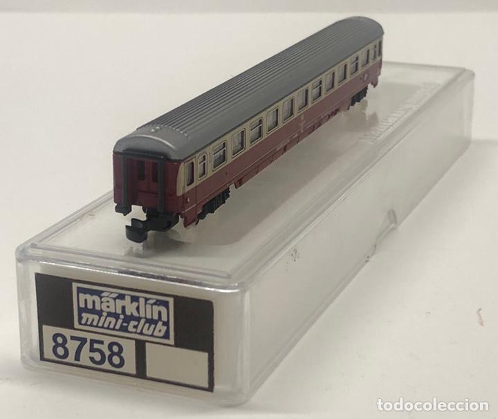 Trenes Escala: MARKLIN MINI CLUB VAGÓN PASAJEROS COCHE 1ª TEE DB 8758 ESCLA Z. NUEVO - Foto 2 - 243659520